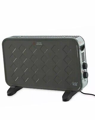 Easy Home Portable Freestanding Electric Convector Heater 2000W Grey