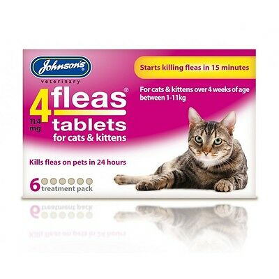Johnsons 4 Fleas  6 Tablets For Cats