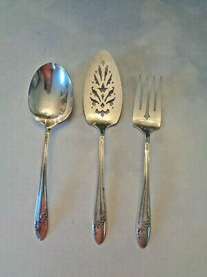 "Oneida Tudor Plate ""Queen Bess"" Circa 1946 - Three Serving Pieces"