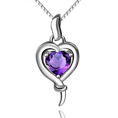 REAL SOLID SILVER 925 Classic Sterling Silver Necklace & Pendant  Heart-067