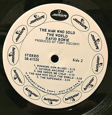 David Bowie Man Who Sold The World USA 1970 WHITE LABEL PROMO LP NM-/NM-