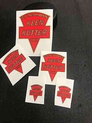 vintage E.C SIMMONS KEEN KUTTER tools Restoration Stickers Lot Of 5 Reproduction