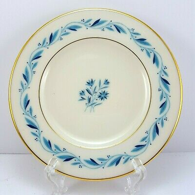 """Lenox Blueridge Bread and Butter Plate Ivory Blue Floral Scrolls Gold Trim 6.25"""""""
