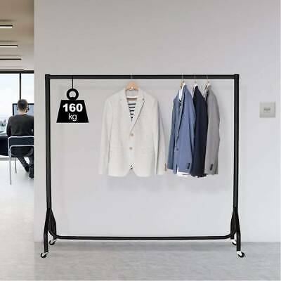 Super 5ft Garment Heavy Duty Rail Clothes Shirts Dress Hanging Stand - Black