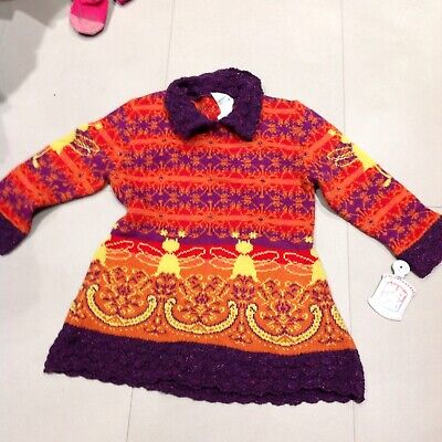 Oilily Designer Girls Knitted Dress Age3-4 NWT