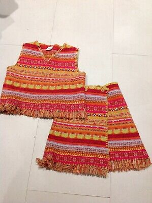 Oilily Designer girls Knitted Top And Skirt Set Age3-4 Nwot