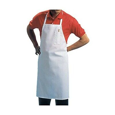Chef Revival 600BAW Poly Cotton Economy Bib Apron with Pencil Pocket, 34 by 3...