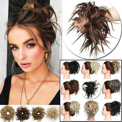 UK Large Thick Messy Bun Hair Piece Scrunchie Updo style Extension Wedding hair
