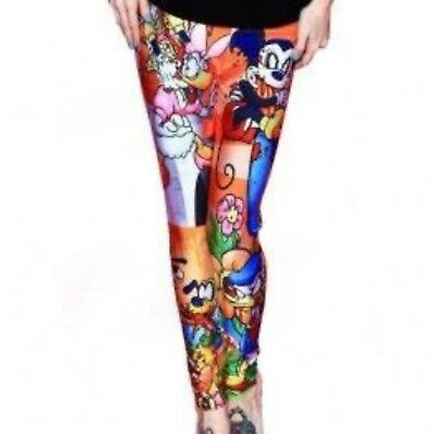 New Living Dead Leggings, Mickey And Foes, Size Large
