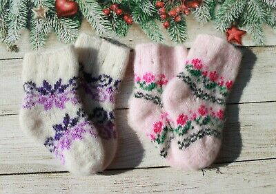 NEW Infant Baby Girls Boys Winter Socks 2 pairs SHEEP WOOL