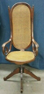Groovy Antique Vintage Bentwood Cane Captain Chair Thonet Style Short Links Chair Design For Home Short Linksinfo