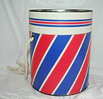 """VTG Cylinder """"Hat Box"""" Storage Container Carrying Case Beauty Salon"""