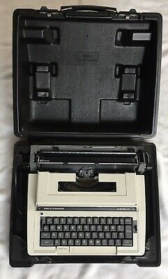 Smith-Corona Electric Typewriter Model 3L w/ Case Power Tested White