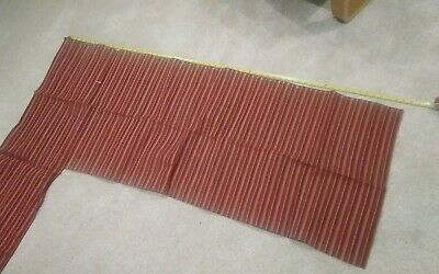 1963 Bonneville or Parisienne seat upholstery fabric in red.