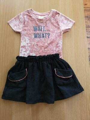 Zara girls Outfit Skirt and Bodysuit 4 Years