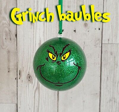 Boys Girls The Grinch Bauble Personalised Christmas Gift 2019 Tree Decoration