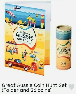 GREAT AUSSIE $1 COIN HUNT TUBE ROLL OF 26 COINS & ALBUM FOLDER 2019–Express Post