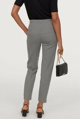 H&M Women's Houndstooth High Rise Straight Leg Pants Size 6