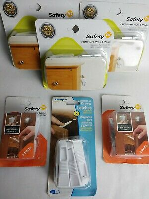 Safety 1st,- Furniture wall straps,spring-loaded cabinet latches,reg.cab. latch