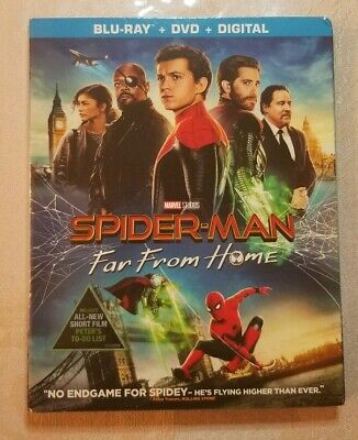 Spider-Man: Far From Home (Blu-Ray & DVD) **NO DIGITAL COPY** DISCS BRAND NEW