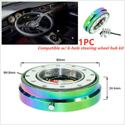 Aluminum Car Steering Wheel Quick Release Short Hub Adapter Ball-Lock type