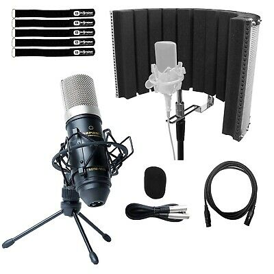 Professional Home Studio Condenser Vocal Recording Microphone Mic Kit w Filter