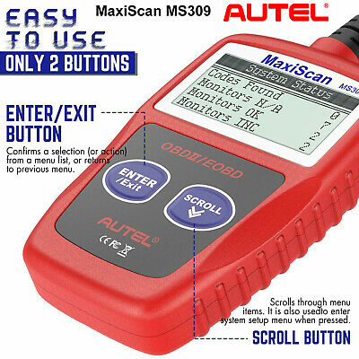 AUTEL MaxiScan MS309 OBD2 Car Scanners Auto Diagnostic Service Tool OBDII Engine