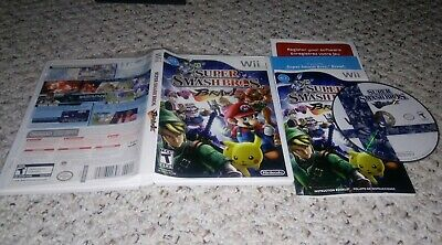 Super Smash Bros. Brawl (Nintendo Wii) COMPLETE Tested FAST SHIPPING