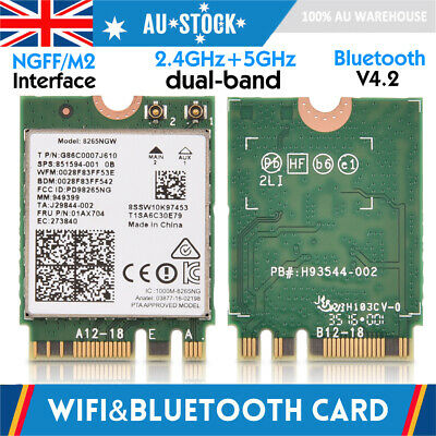 2IN1 WIFI & Bluetooth Wireless Card NGFF/M2 Slot 2.4G/5G Dual-Band for PC/Laptop