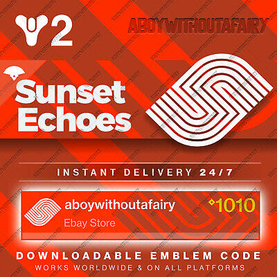 Destiny 2 Shadowkeep Emblem | Sunset Echoes | INSTANT DELIVERY & CODE IN HAND