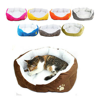 Pet Dog Cat Calming Bed Round Nest Warm Soft Plush Sleeping Bag Comfy Flufy Gift