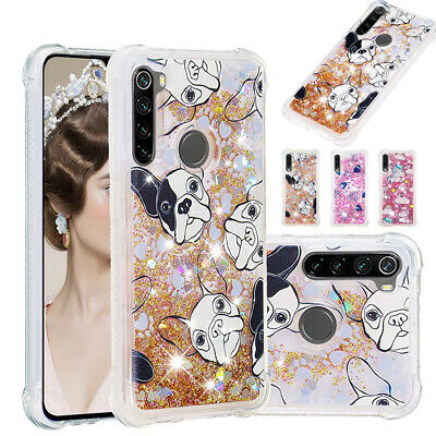 For Xiaomi Redmi Note 8 7A Mi 9T Quicksand Glitter Case Soft Cover Bling Liquid