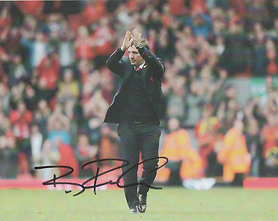 BRENDAN RODGERS Signed 10x8 Photo LEICESTER CITY FOOTBALL Manager COA