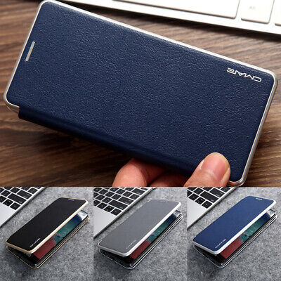 Premium Magnetic Slim Leather Flip Wallet Case Stand Cover For Samsung S10 S9 S8