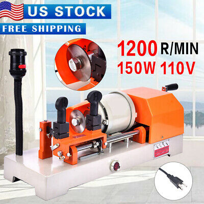 110V Key Duplicating Machine Key Guide Reproducer Reproducing Cutter Engrave USA