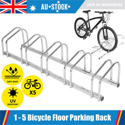 1 – 5 Bike Floor Parking Rack Instant Storage Stand Bicycle Cycling Dismountable