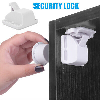 Cabinet Locks Baby Safety Invisible Child Kids Proof Cupboard Drawer