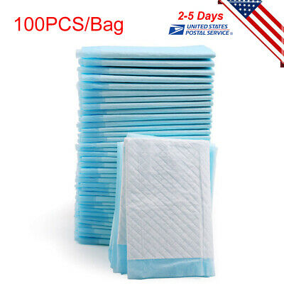 100 Disposable Underpad Cat Dog Pet Pee Training Potty Puppy Wee Pad New Saled