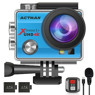 Campark ACT76 Action Camera 4K 16MP Wifi Remote Control IP68 Underwater 30M Case