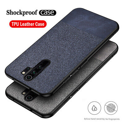 For Xiaomi Redmi Note 8 7 Pro 7A Hybrid Fabric Soft TPU Leather Back Case Cover