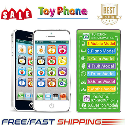 Kid Simulator Music Toy Cell Phone Touch Screen Educational Learning Child Gift#