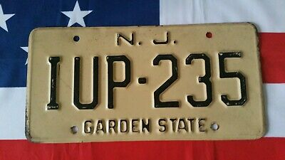 Plaque d'immatriculation New Jersey IUP 235 US USA license plate