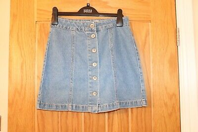 Girls New Look 915 Generation  Mid Blue Denim Short Skirt Age 13 Ec 158Cm