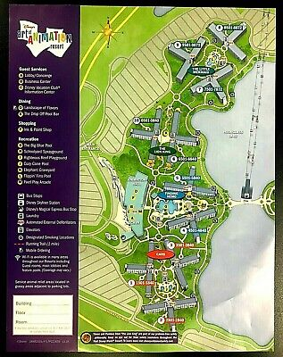 NEW 2020 Walt Disney World Art of Animation Resort Map + 5 Theme Park Guide Maps