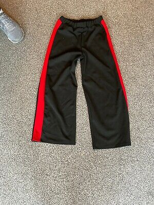 River Island Girls Black With Red Stripe Trousers 9/10 Years