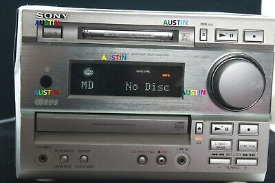 Sony Dhc Md373 Cd Player Minidisc Recorder..