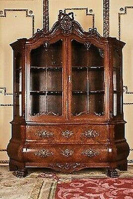 Antique Dutch Baroque Baroque Display Cases Wardrobe 19. Century