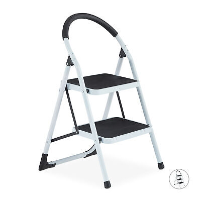Steel Step Ladder with max. 150 kg Capacity, Folding Household Ladder