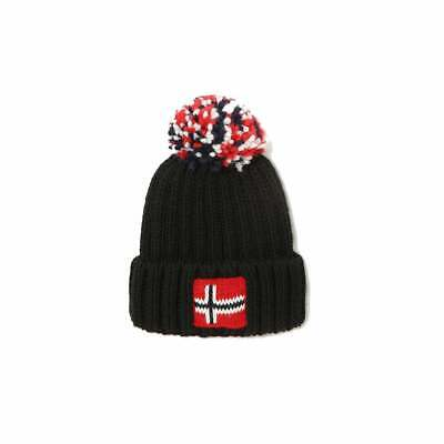 Napapijri Kids Semiury 3 Knitted Bobble Hat (Black)