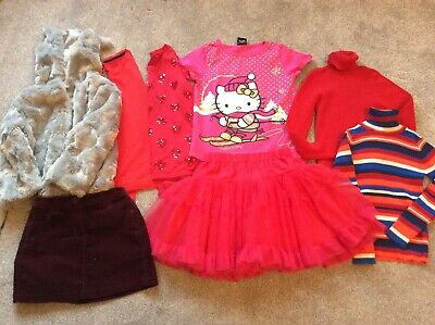 Girls Winter / Christmas clothes bundle Age 7 - 8 years Mainly Next